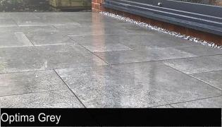 Optima grey porcelain paving outdoor