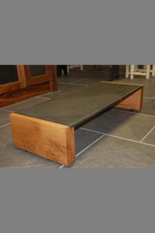 Slate & Oak Coffee Table