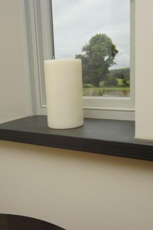 40mm Thick Black Slate Cill with Pencil Edge