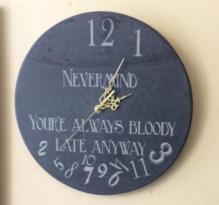 Bespoke engraved slate clock