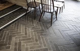 Cobbled modern slate flooring