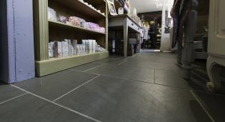 Commercial flooring with custom flagstones