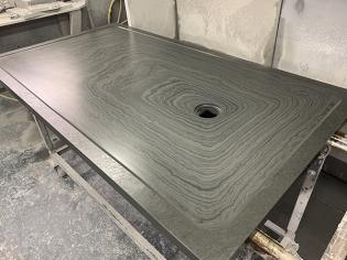 custom shower tray made from real slate