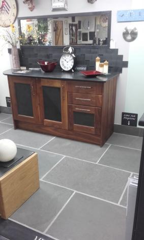 Limestone flooring in kitchen from Ardosia