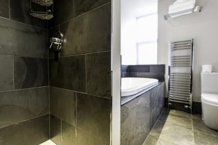 slate floor and wall tiles for bath and shower room