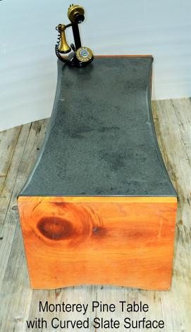 Monterey Pine & Slate Coffee Table