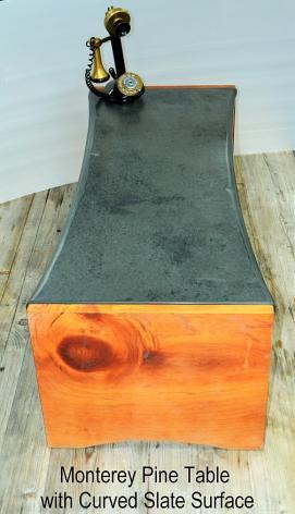 Monterey Pine & Slate Coffee Table