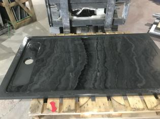 custom natural stone slate tray for a shower