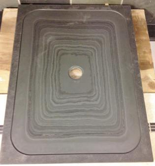 Stunning Markings On This Grey Slate Shower Tray In Solid Natural Stone.