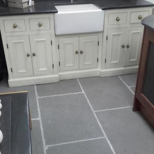 Riven limestones in a kitchen