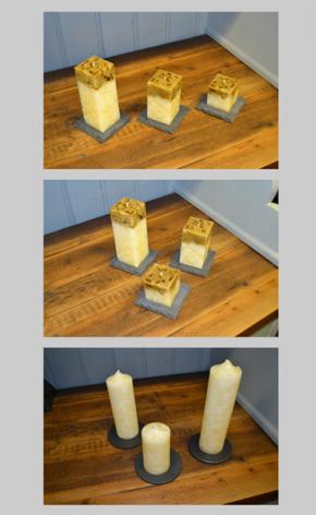 Slate candle holdder mats