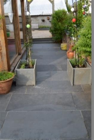 Grey Slate Planter Bases for Rose Arch