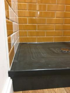 Close up image of our slate shower tray
