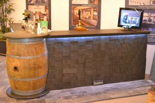 skirting and cladding in slate on a bar