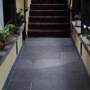 skirting boards made from slate leading to stairs