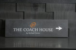 The Coach House slate sign with engraving