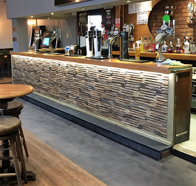 slate flooring at the punch bowl